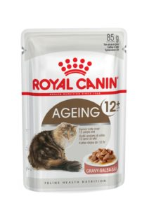 Ageing 12+ in gravy pouch cat food