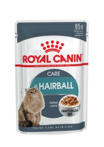 Hairball Care in gravy pouch cat food hairball