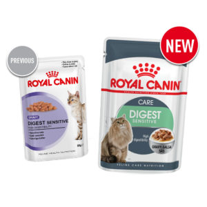 Old vs new Royal Canin food digest