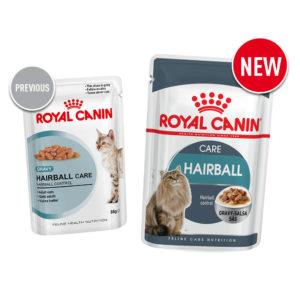 Old vs new Royal Canin food hairball