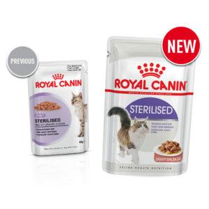 Old vs new Royal Canin food sterilised