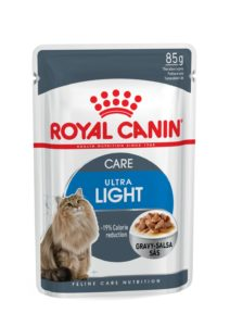 Ultra light care in gravy pouch cat food