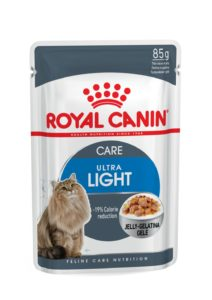 Ultra light care in jelly pouch cat food