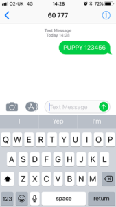 Puppy Text Royal Canin