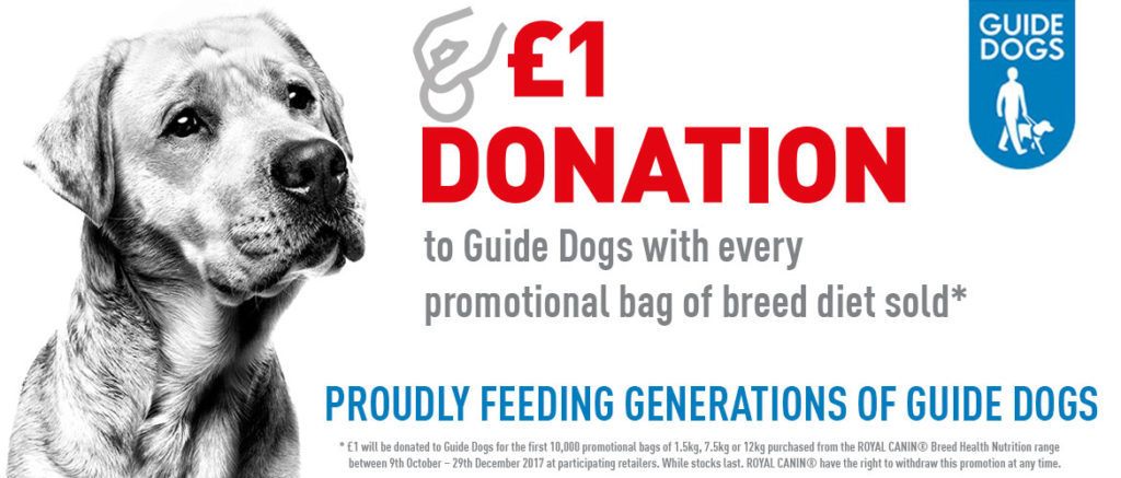 ROYAL CANIN donation banner Guide Dogs