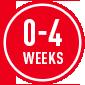 0-4 weeks