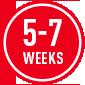 5-7 weeks